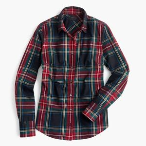 J Crew Perfect Shirt Stewart Plaid Size 10